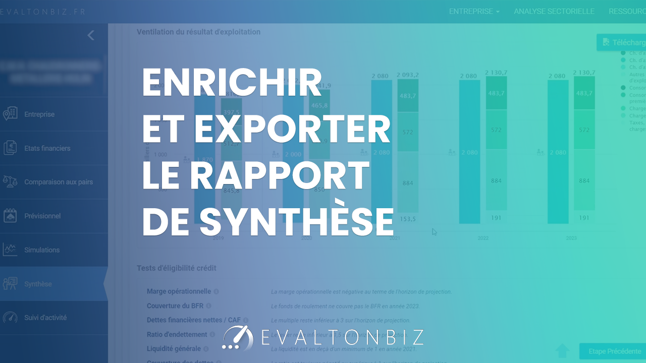 05 Enrichir et Export le rapport de Synthèse